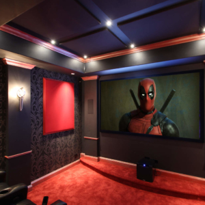 Elmhurst IL Contemporary Art Deco Home Theater
